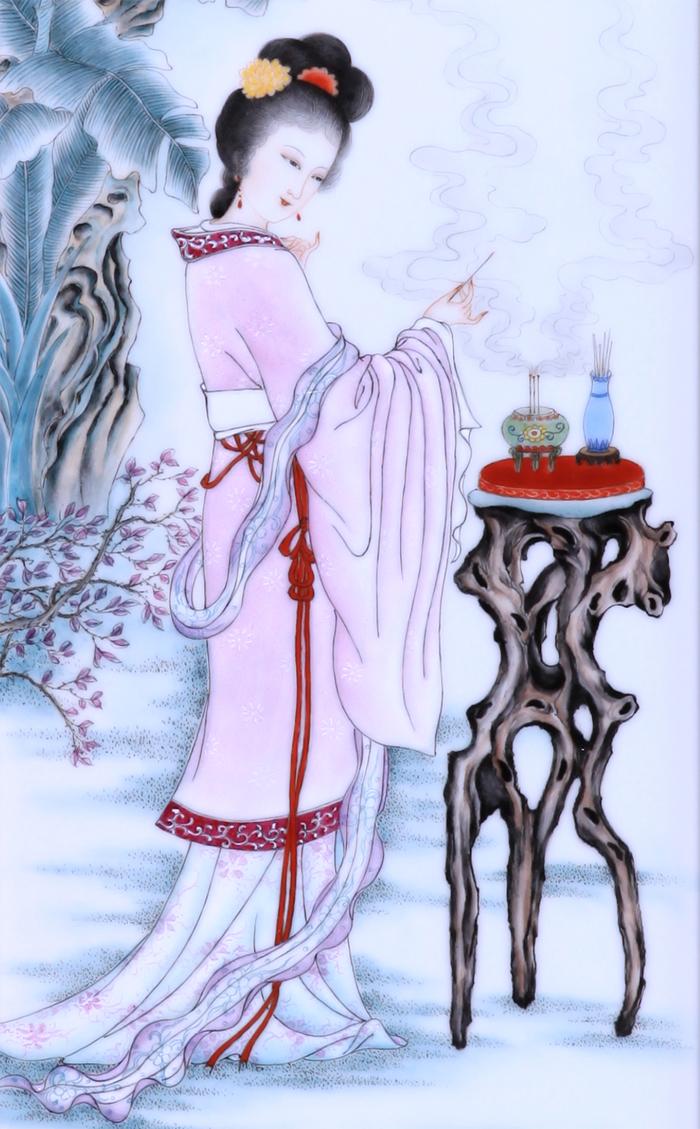 作品细节处将中国古代四大美女的惊艳绝伦、仪态万芳、沉鱼落雁之美