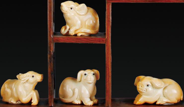 猛犸象牙 动物类《古象牙十二生肖》